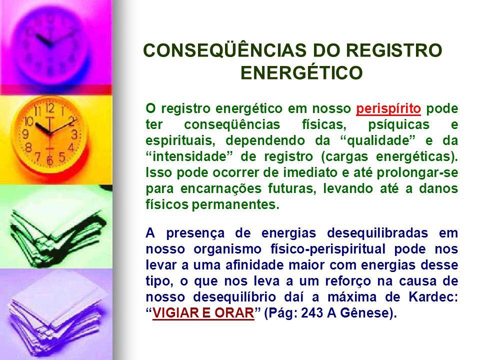CONSEQÜÊNCIAS DO REGISTRO ENERGÉTICO