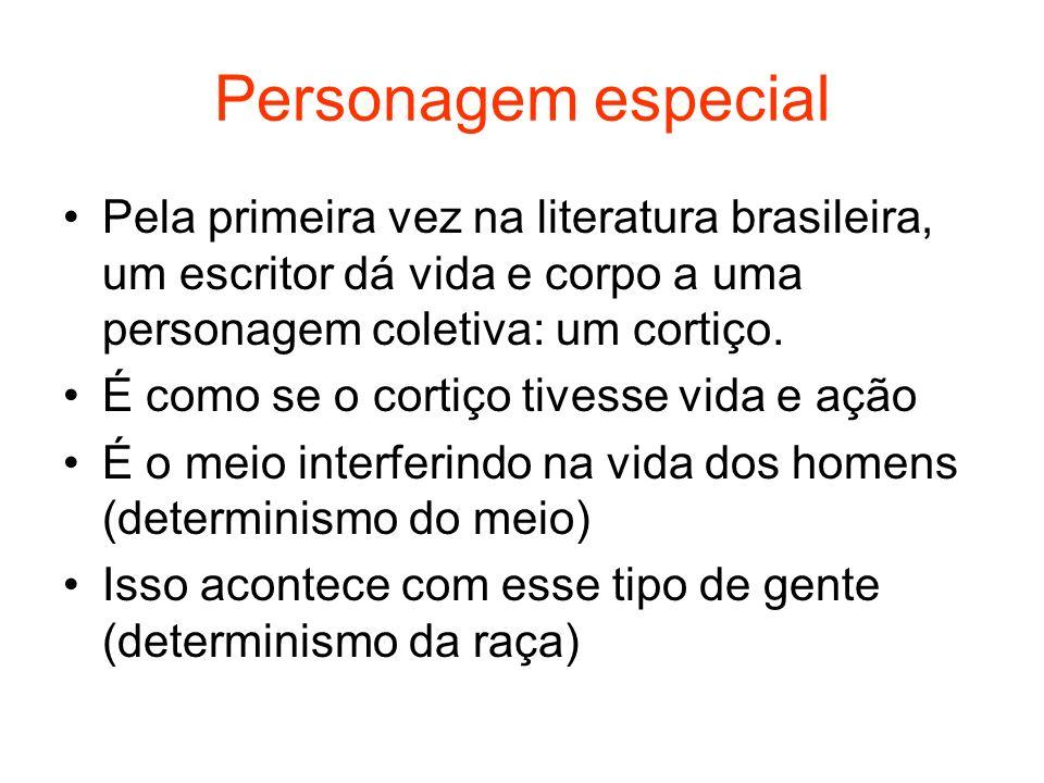 Personagem especial Pela primeira vez na literatura brasileira, um escritor dá vida e corpo a uma personagem coletiva: um cortiço.