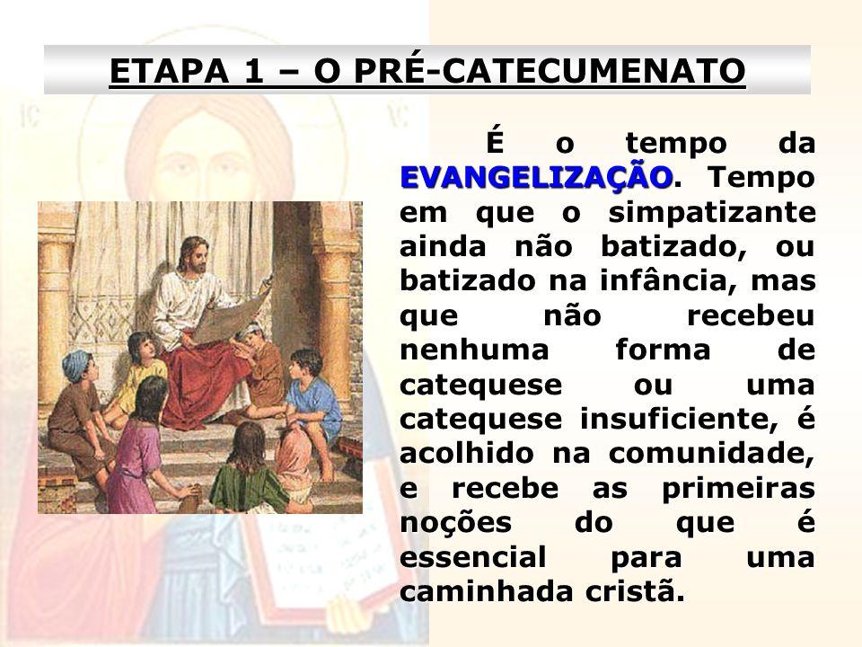 ETAPA 1 – O PRÉ-CATECUMENATO