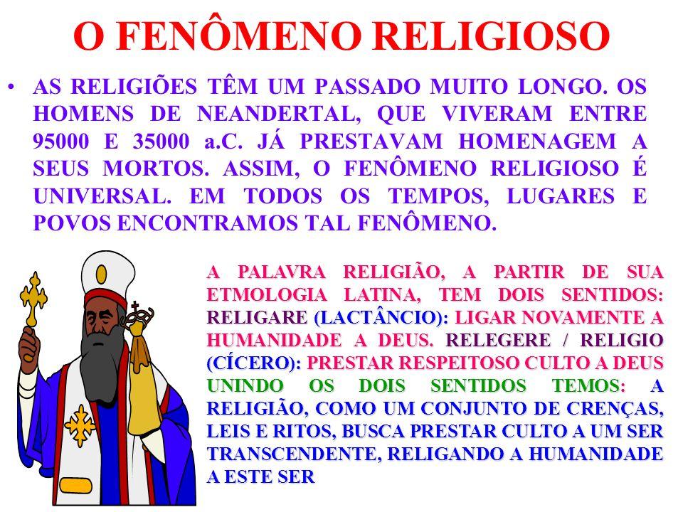 O FENÔMENO RELIGIOSO