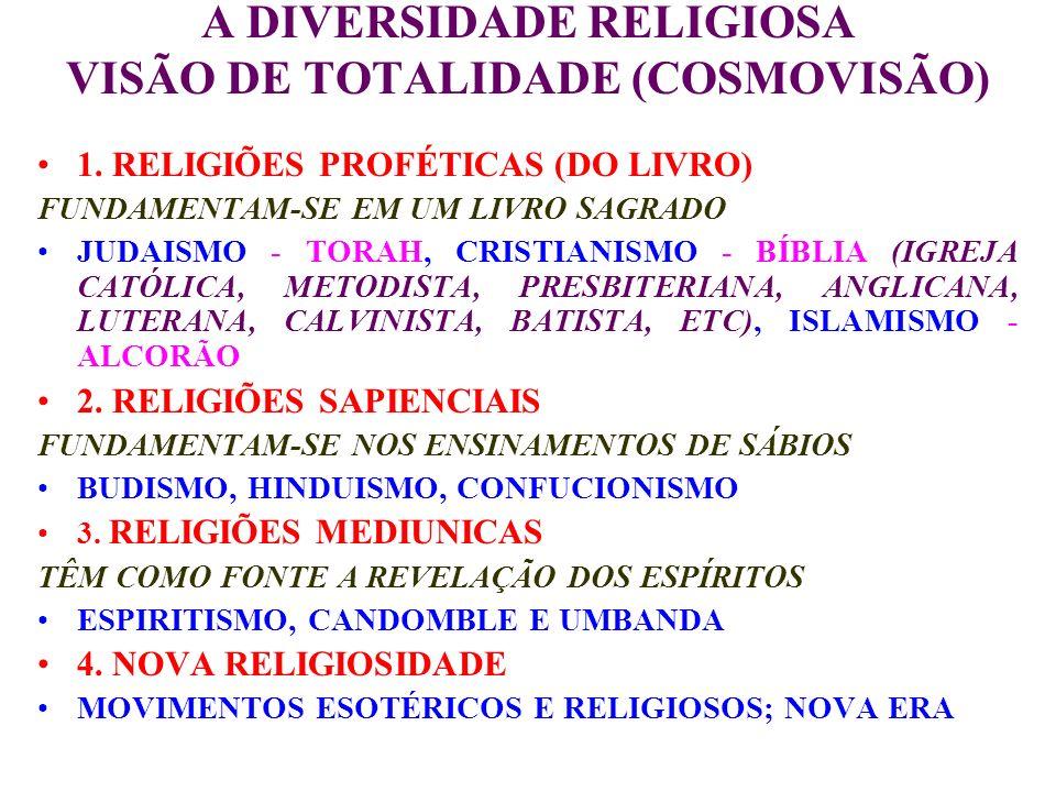A DIVERSIDADE RELIGIOSA VISÃO DE TOTALIDADE (COSMOVISÃO)