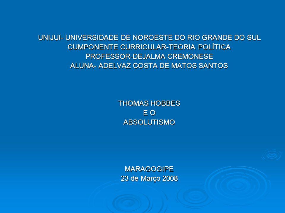 UNIJUI- UNIVERSIDADE DE NOROESTE DO RIO GRANDE DO SUL