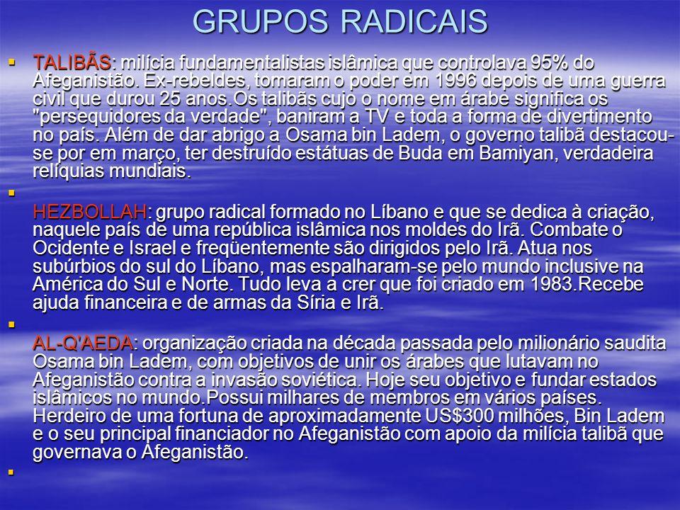 GRUPOS RADICAIS