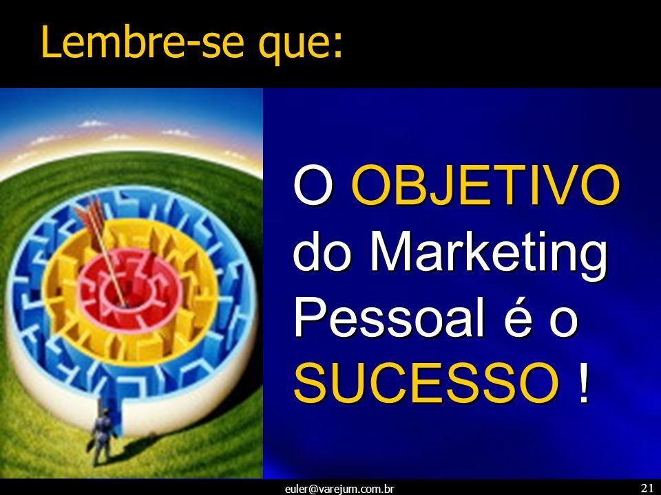 O OBJETIVO do Marketing Pessoal é o SUCESSO !
