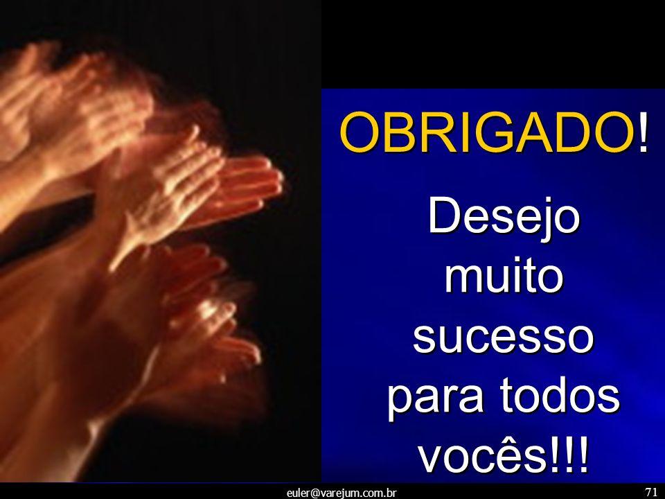 Desejo muito sucesso para todos vocês!!!