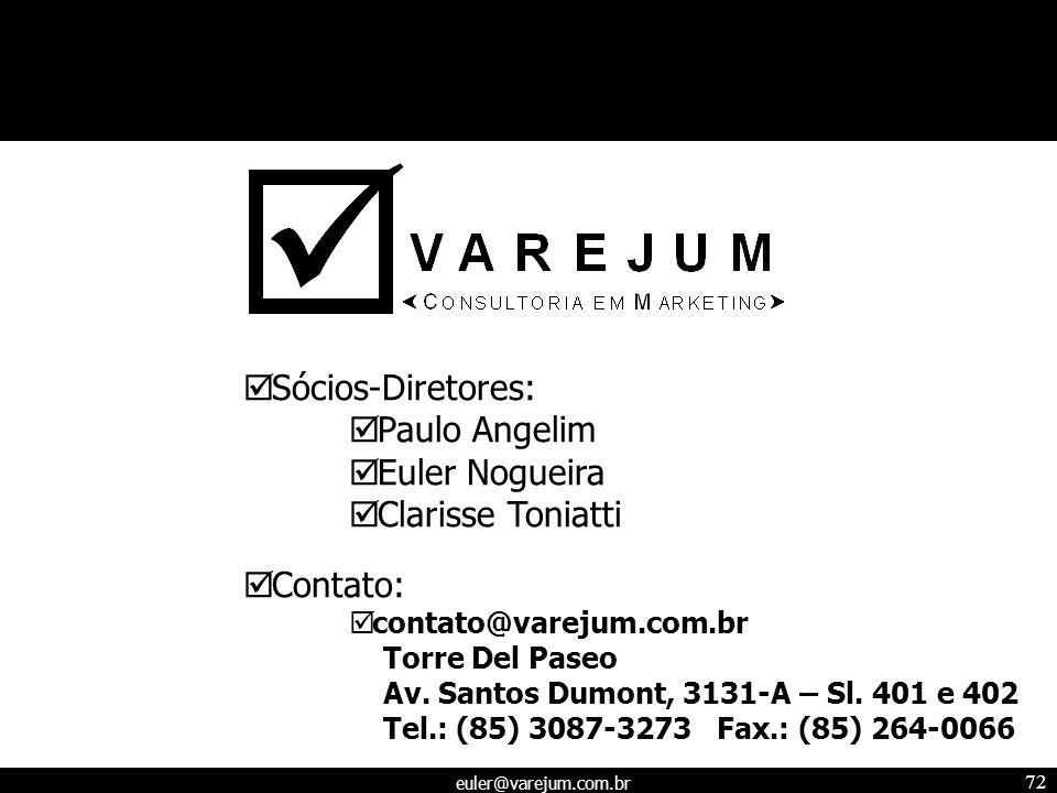 Sócios-Diretores: Paulo Angelim Euler Nogueira Clarisse Toniatti