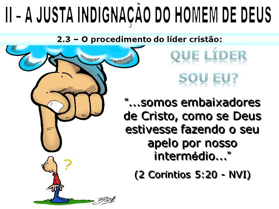 II – A JUSTA INDIGNAÇÃO DO HOMEM DE DEUS