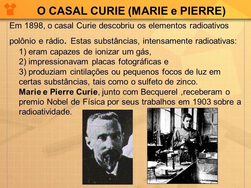 O CASAL CURIE (MARIE e PIERRE)