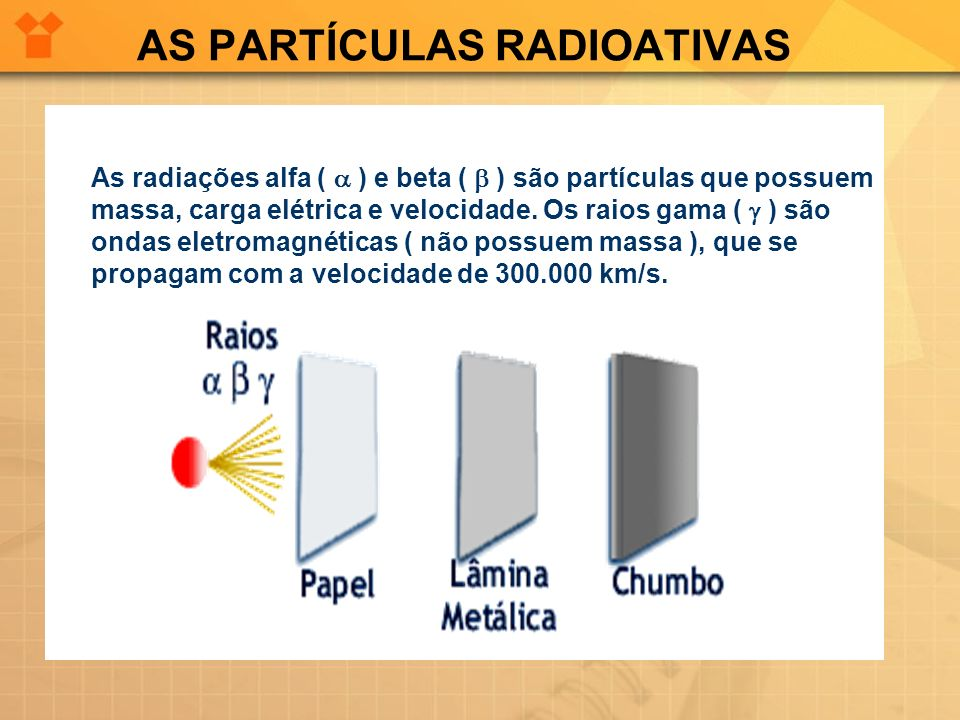 AS PARTÍCULAS RADIOATIVAS
