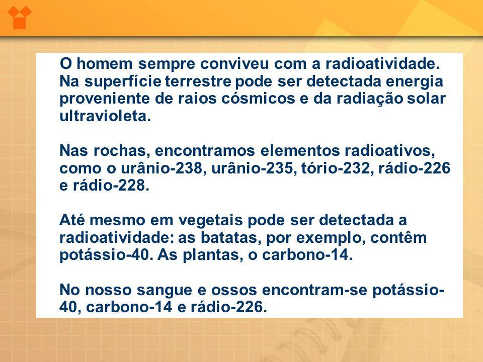 O homem sempre conviveu com a radioatividade
