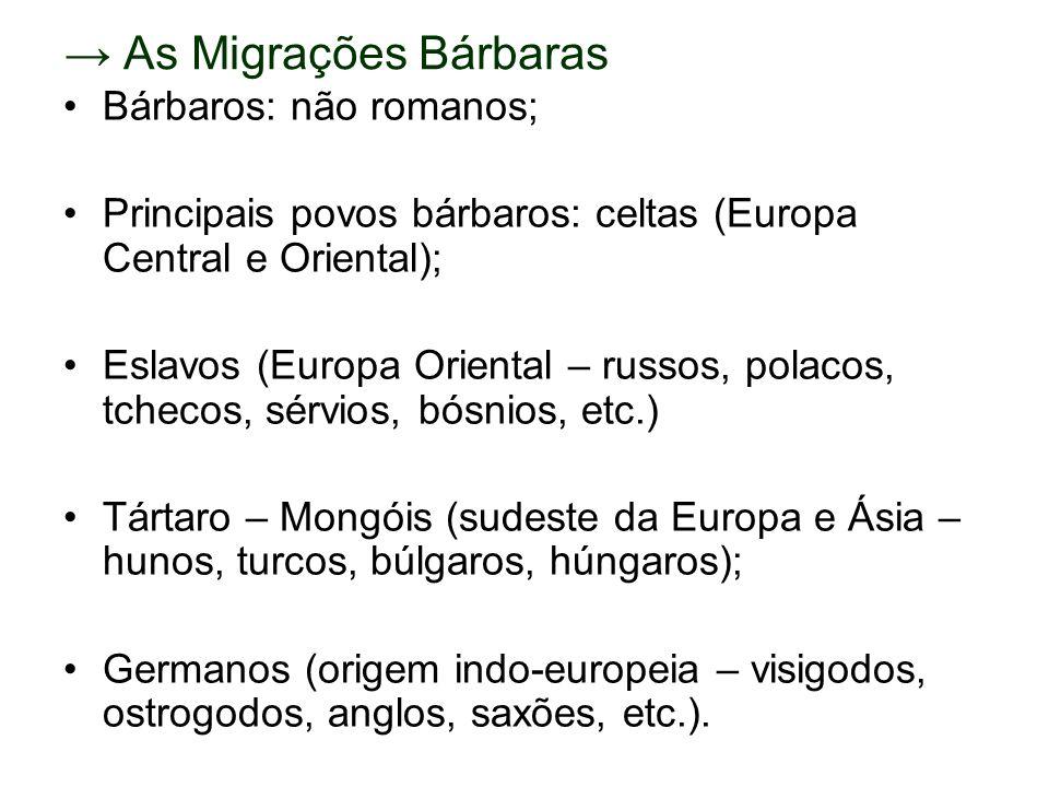 → As Migrações Bárbaras