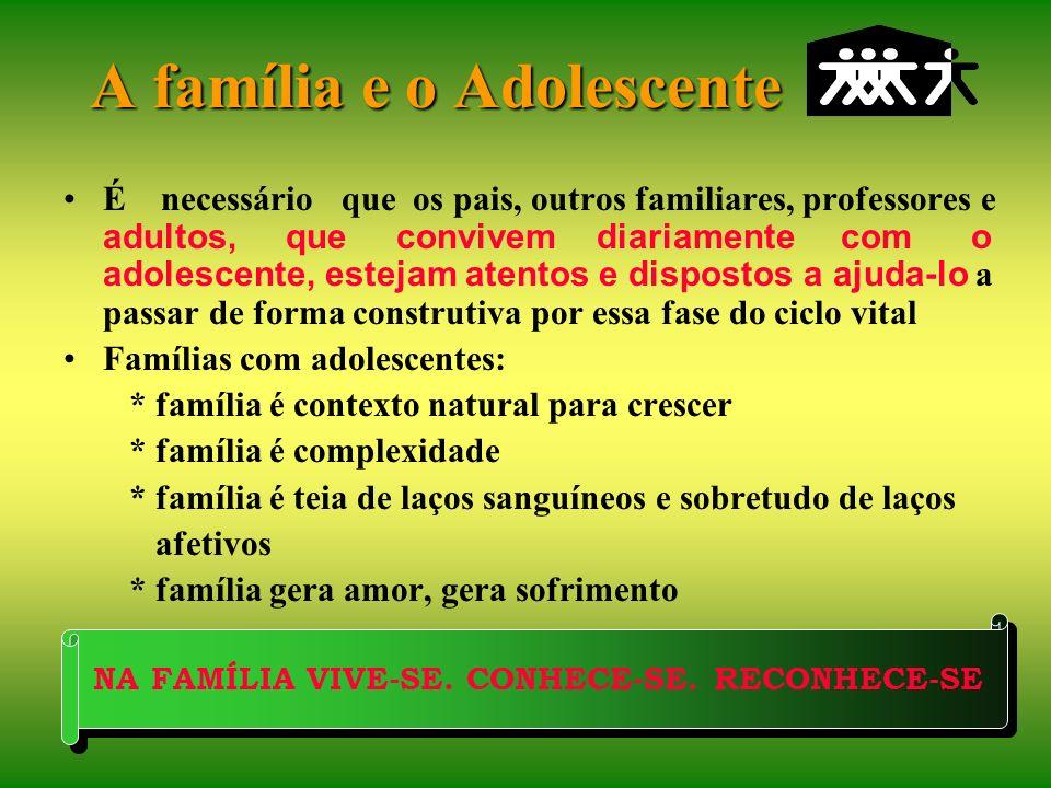 A família e o Adolescente
