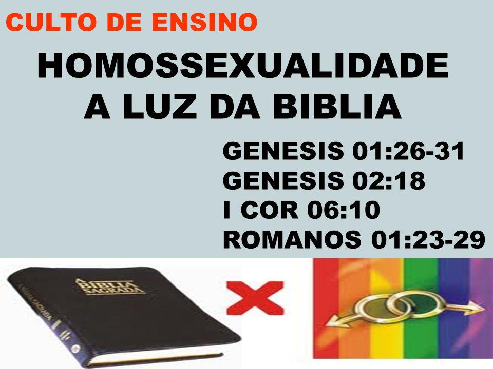HOMOSSEXUALIDADE A LUZ DA BIBLIA