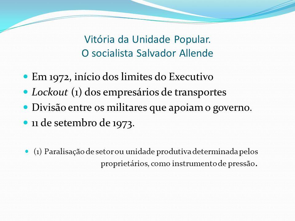Vitória da Unidade Popular. O socialista Salvador Allende