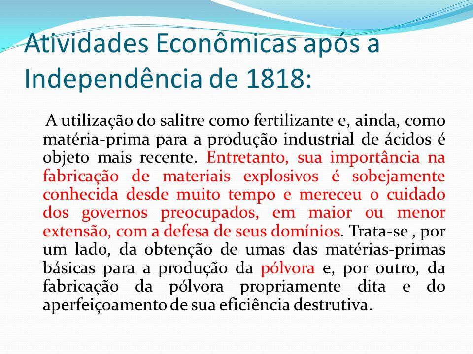 Atividades Econômicas após a Independência de 1818: