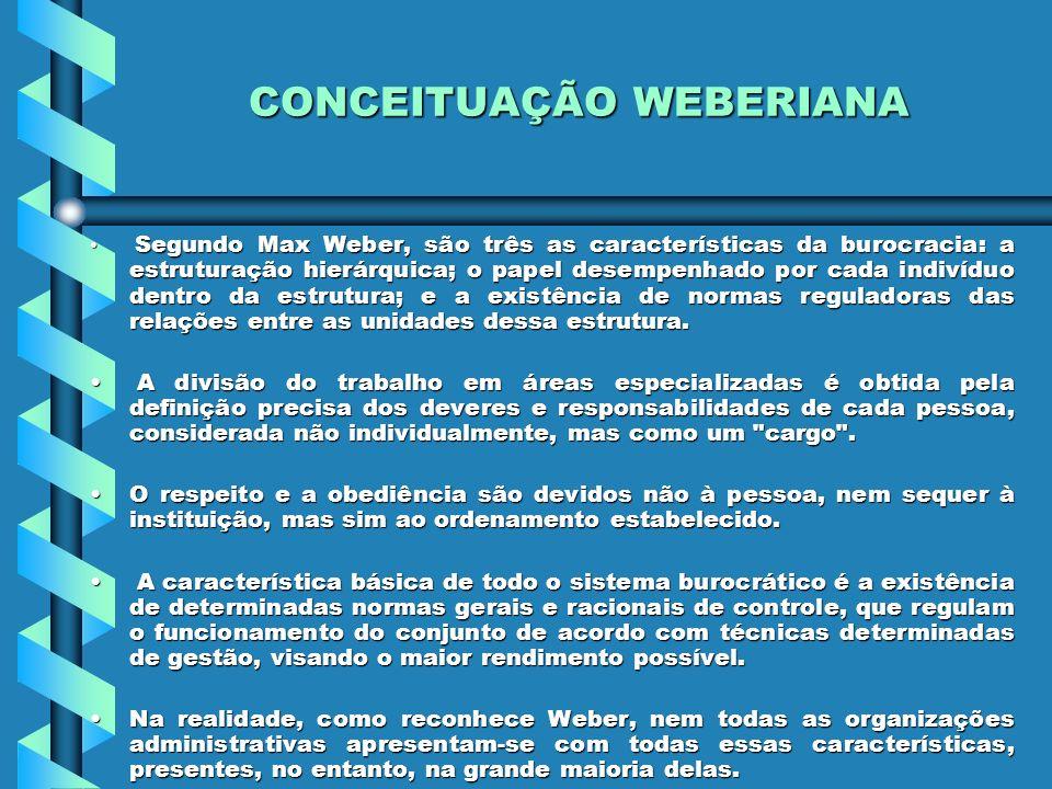 CONCEITUAÇÃO WEBERIANA