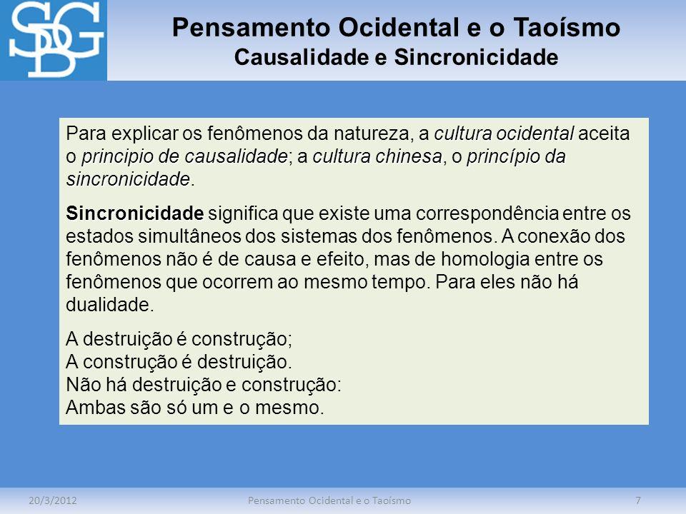 Pensamento Ocidental e o Taoísmo Causalidade e Sincronicidade