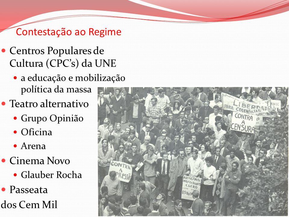 Contestação ao Regime Centros Populares de Cultura (CPC's) da UNE