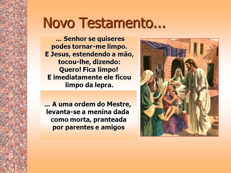 Novo Testamento... ... Senhor se quiseres podes tornar-me limpo.