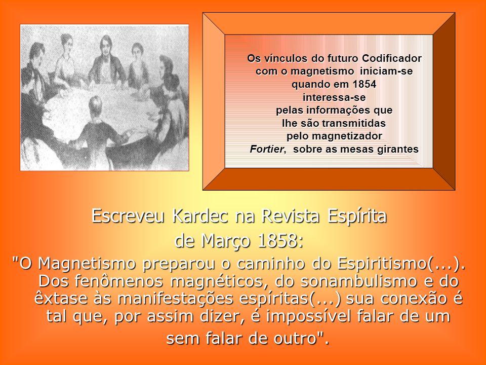 Escreveu Kardec na Revista Espírita de Março 1858: