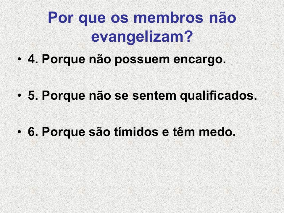 Por que os membros não evangelizam