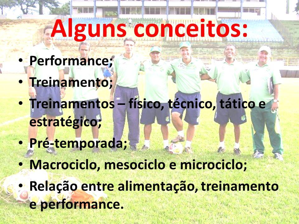 Alguns conceitos: Performance; Treinamento;