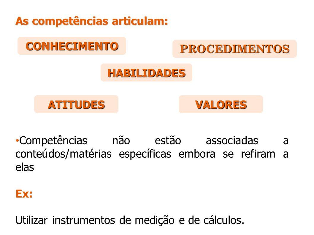 As competências articulam: