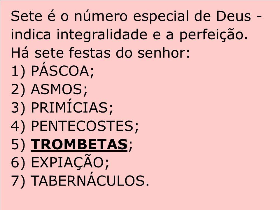 Sete é o número especial de Deus - indica integralidade e a perfeição.