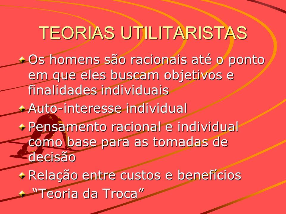 TEORIAS UTILITARISTAS