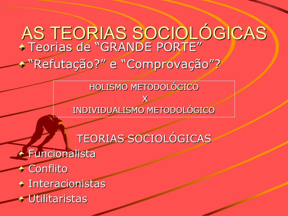 AS TEORIAS SOCIOLÓGICAS