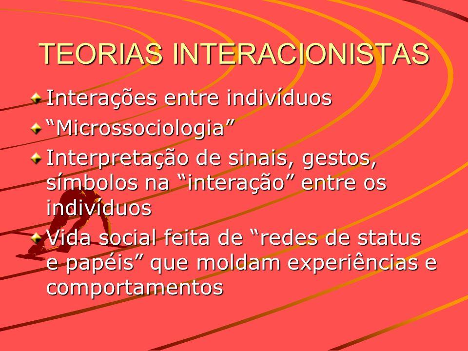 TEORIAS INTERACIONISTAS