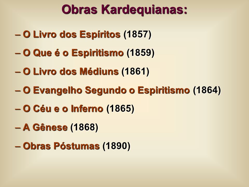 Obras Kardequianas: O Livro dos Espíritos (1857)