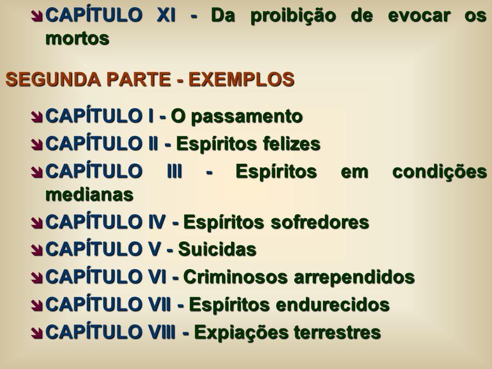 CAPÍTULO XI - Da proibição de evocar os mortos