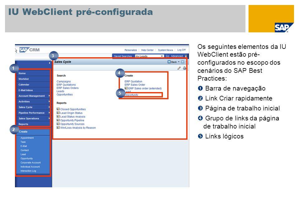 IU WebClient pré-configurada