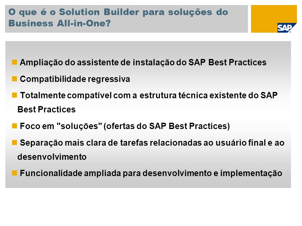 O que é o Solution Builder para soluções do Business All-in-One