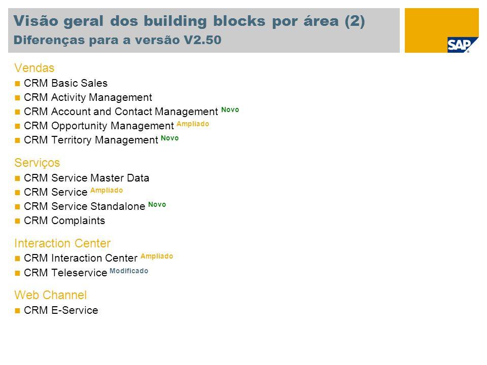 Visão geral dos building blocks por área (2) Diferenças para a versão V2.50