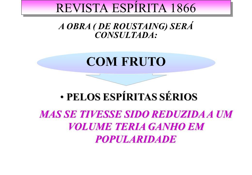 REVISTA ESPÍRITA 1866 COM FRUTO PELOS ESPÍRITAS SÉRIOS