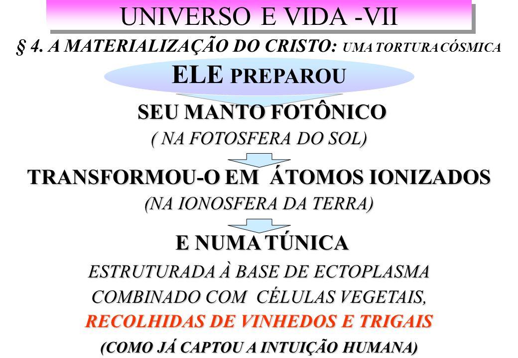 UNIVERSO E VIDA -VII ELE PREPAROU