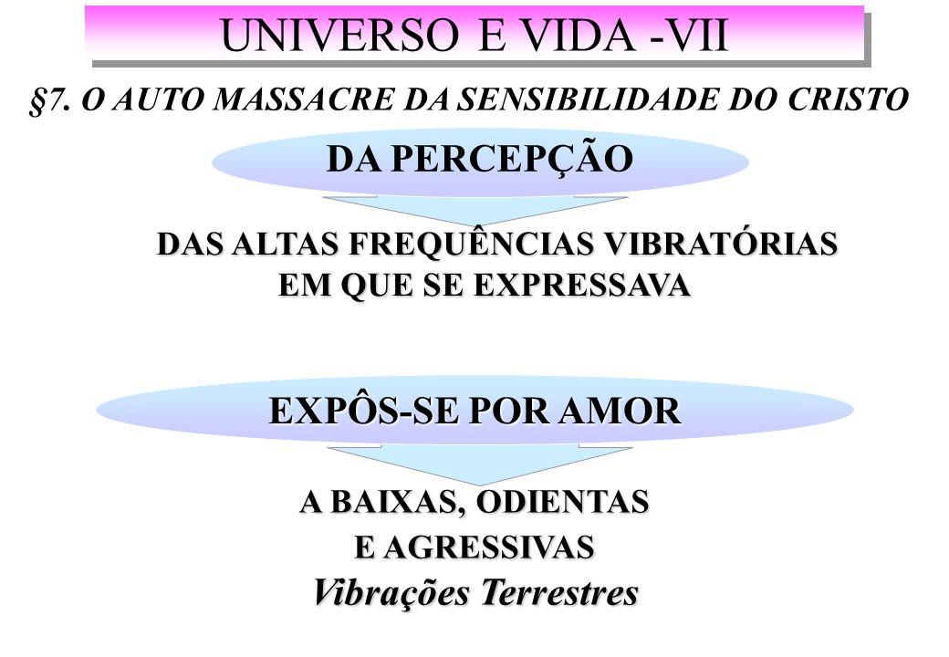 UNIVERSO E VIDA -VII DA PERCEPÇÃO EXPÔS-SE POR AMOR