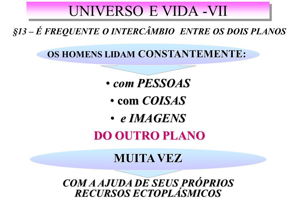 UNIVERSO E VIDA -VII com PESSOAS com COISAS e IMAGENS DO OUTRO PLANO