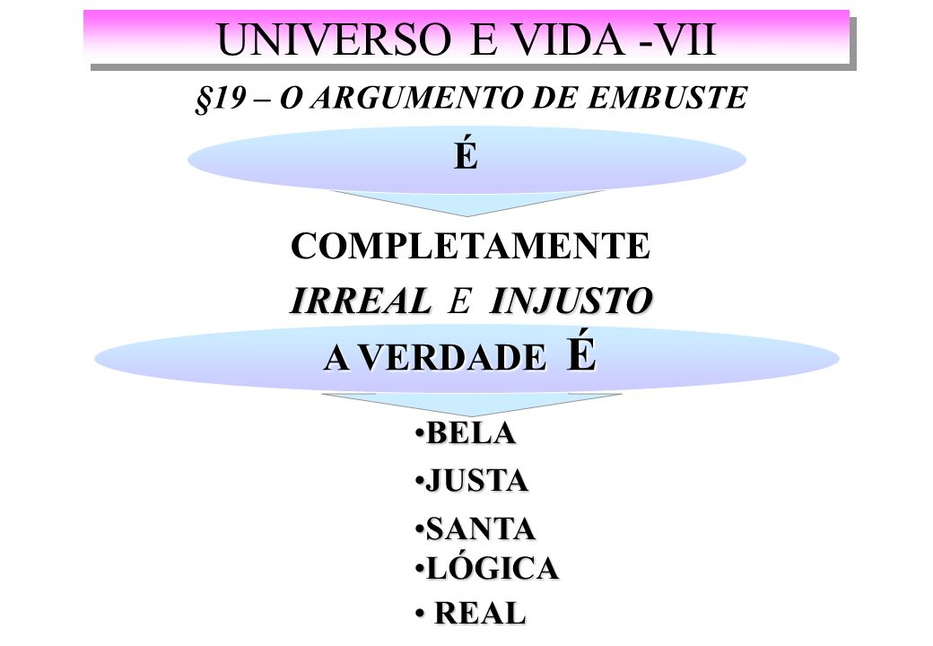 §19 – O ARGUMENTO DE EMBUSTE