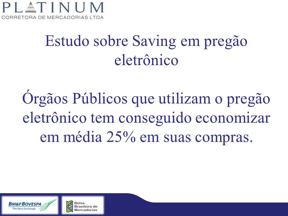 Estudo sobre Saving em pregão eletrônico