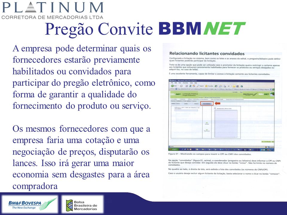Pregão Convite BBMNET
