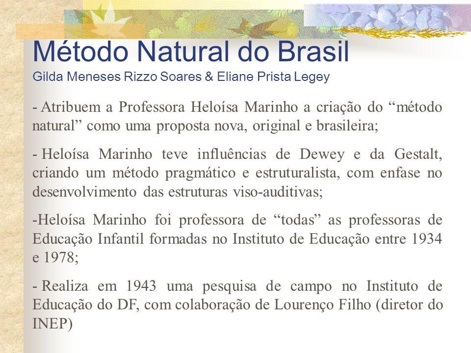 Método Natural do Brasil Gilda Meneses Rizzo Soares & Eliane Prista Legey