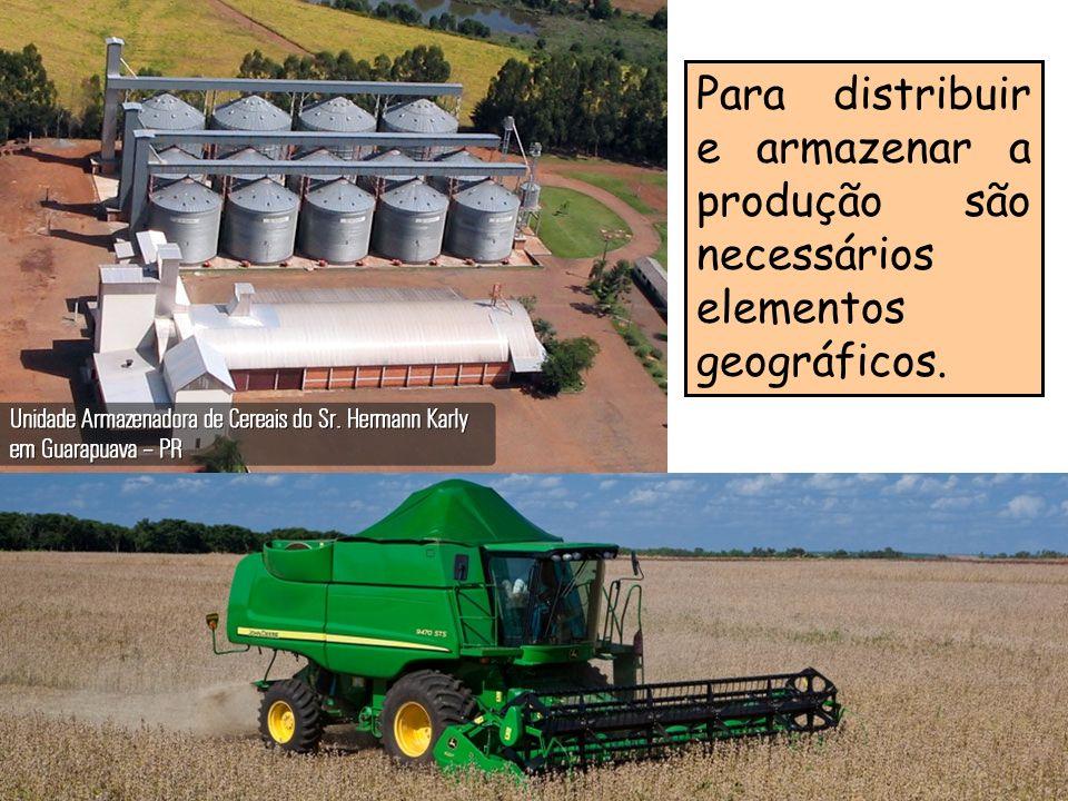 Para distribuir e armazenar a produção são necessários elementos geográficos.