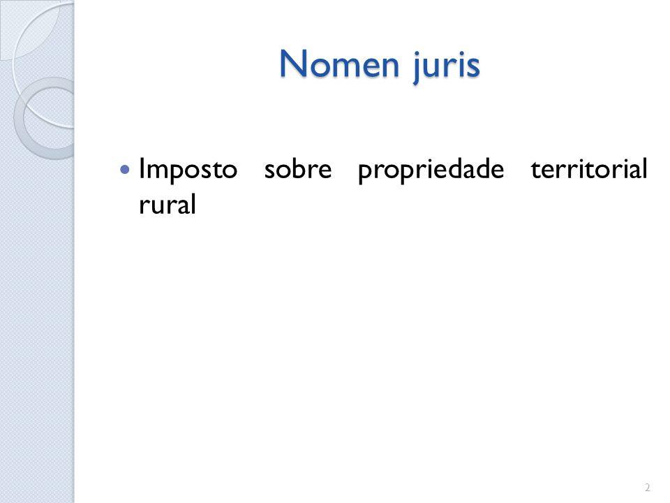 Nomen juris Imposto sobre propriedade territorial rural