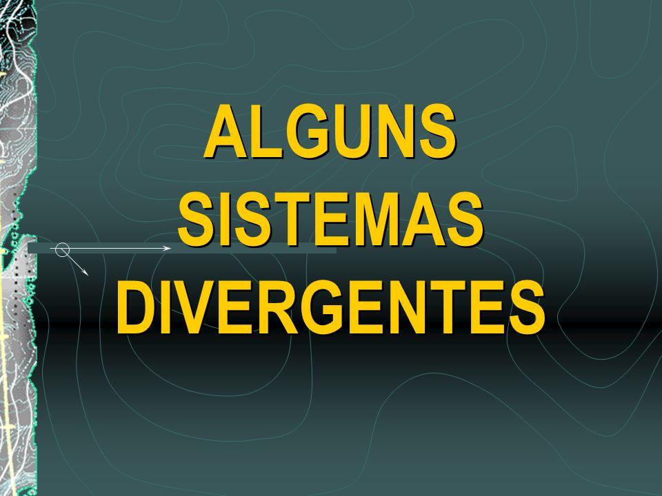 ALGUNS SISTEMAS DIVERGENTES