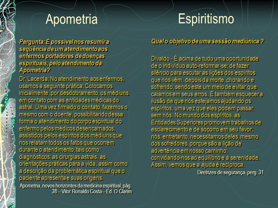 Apometria Espiritismo