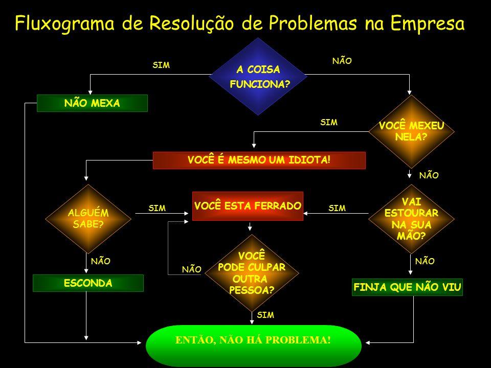 Fluxograma de Resolução de Problemas na Empresa