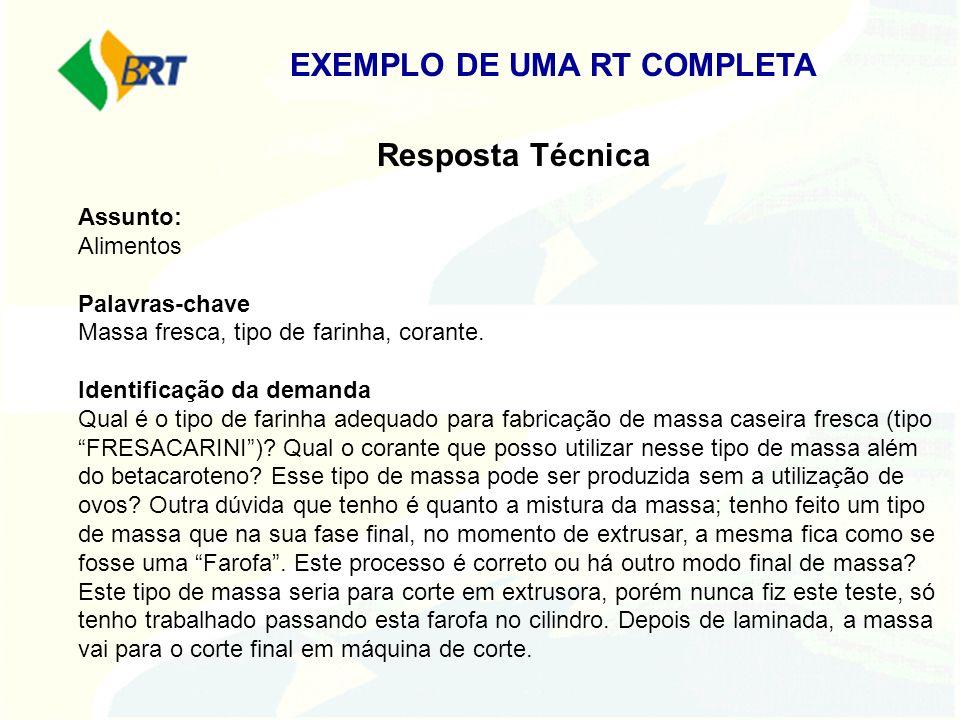 EXEMPLO DE UMA RT COMPLETA
